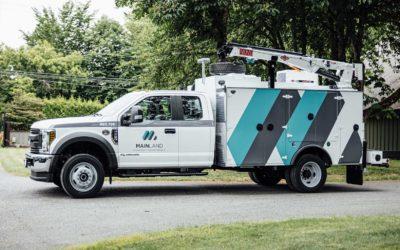 Ford F-550 Utility Truck – Custom Print Partial Wrap