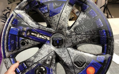 Tesla Model 3 – Custom Star Wars Print Wheel Wraps
