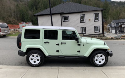 Jeep Wrangler – Colour Change Full Wrap with White Accents