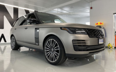 Range Rover Matte Grey Aluminum Colour Change Full Wrap