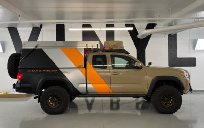 Toyota Tacoma – Layered Colour Change Partial Wrap with Decal Overlays